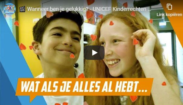 Leerlingen obs Et Buut in UNICEF Kinderrechten Filmfestival